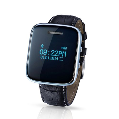 Leather Strap Bluetooth Smart Watch With Remote Notification